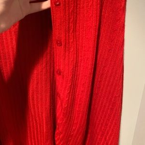 Casual Corner Sweaters - Red Button Cardigan